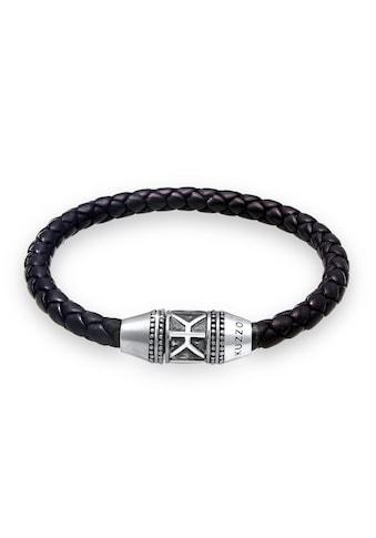 Kuzzoi Armband »Herren Leder Logo Magnet-Verschluß 925 Silber« kaufen