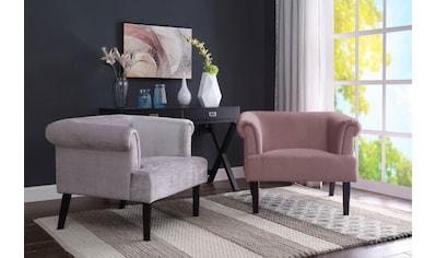 ATLANTIC home collection Sessel, Loungesessel mit Wellenunterfederung kaufen