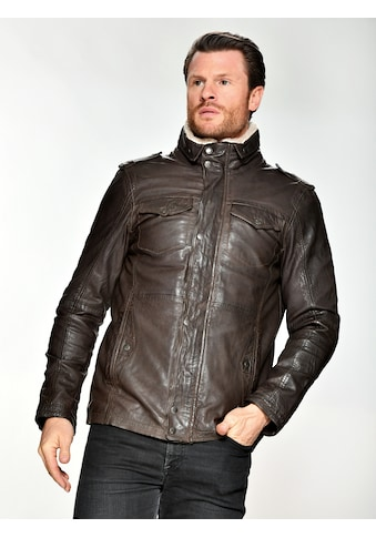 MUSTANG Lederjacke mit Schulterklappe »31017354« kaufen