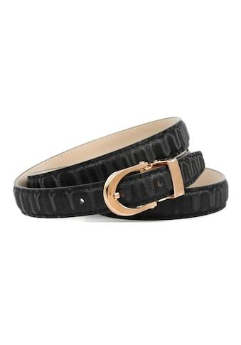 Anthoni Crown Ledergürtel, Gürtel aus innovativem Leder in 3D-Optik in schwarz kaufen