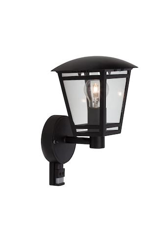 Brilliant Leuchten Riley Außenwandleuchte stehend Bewegungsmelder schwarz kaufen