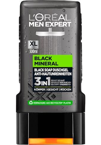 L'ORÉAL PARIS MEN EXPERT Duschgel »Black Mineral«, mit schwarzer Tonerde gegen... kaufen