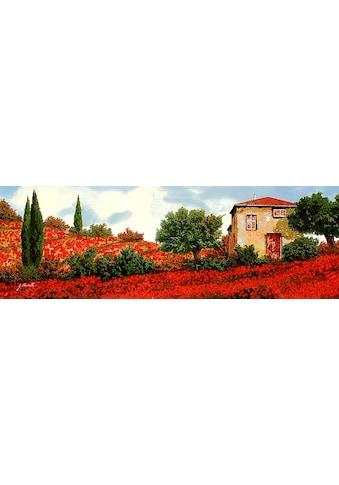 Home affaire Kunstdruck »G. BORELLI / Mohnblumen auf den Hügeln«, (1 St.) kaufen