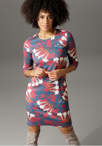 Aniston CASUAL Sweatkleid, mit großflächigem, grafischem Blumendruck kaufen