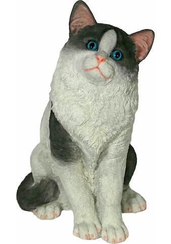 Casa Collection by Jänig Tierfigur »Katze sitzend, schwarz-weiß, Höhe: 38cm« kaufen