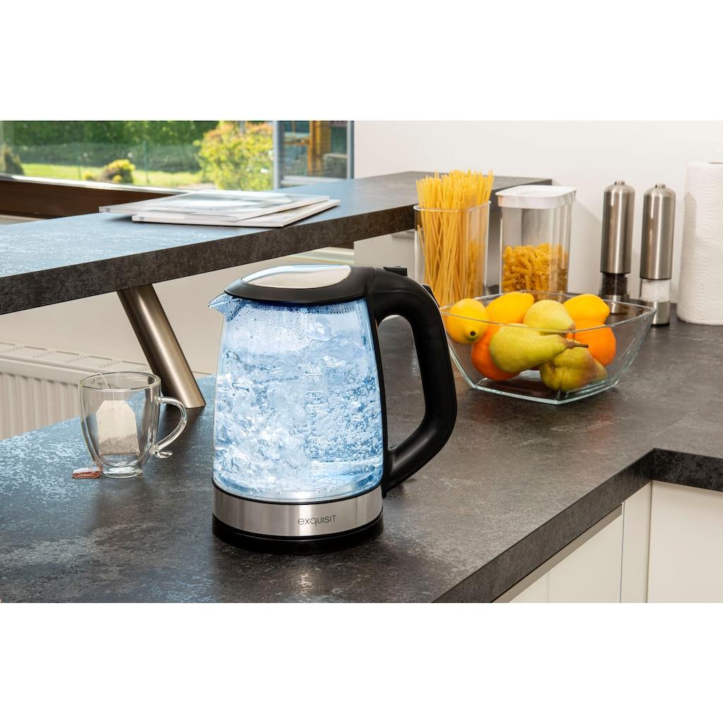 exquisit Wasserkocher »WK 3501 swg«, 2 l, 2200 W