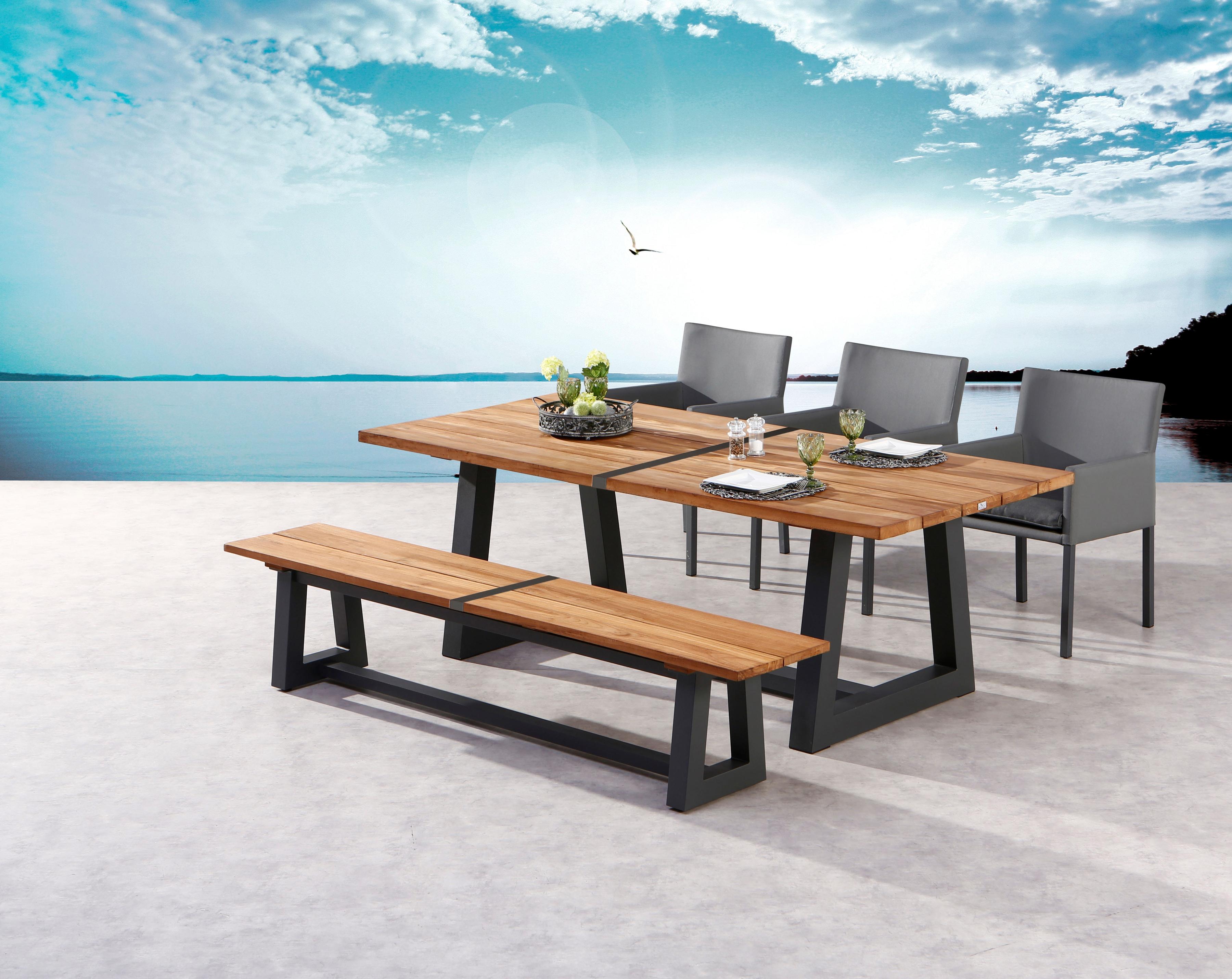 Best Gartenmobelset Campione 5 Tlg 1 Bank 3 Stuhle Tisch 220x100 Cm Teakholz Online Kaufen Quelle At