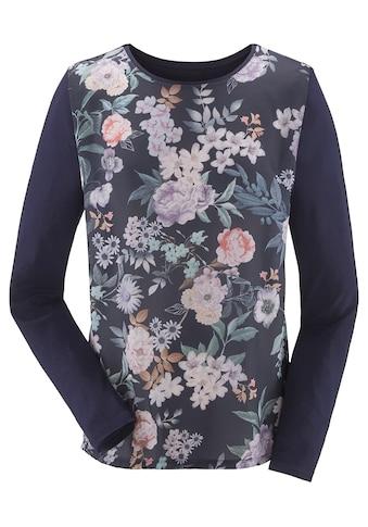 Lady Blusenshirt im Materialmix kaufen