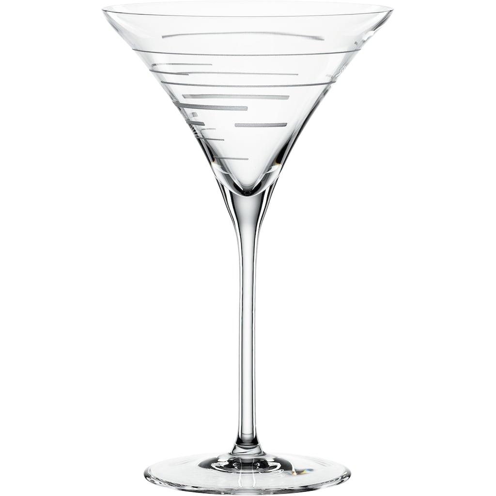 SPIEGELAU Cocktailglas »Lines«, (Set, 2 tlg.), 2-teilig, 220 ml