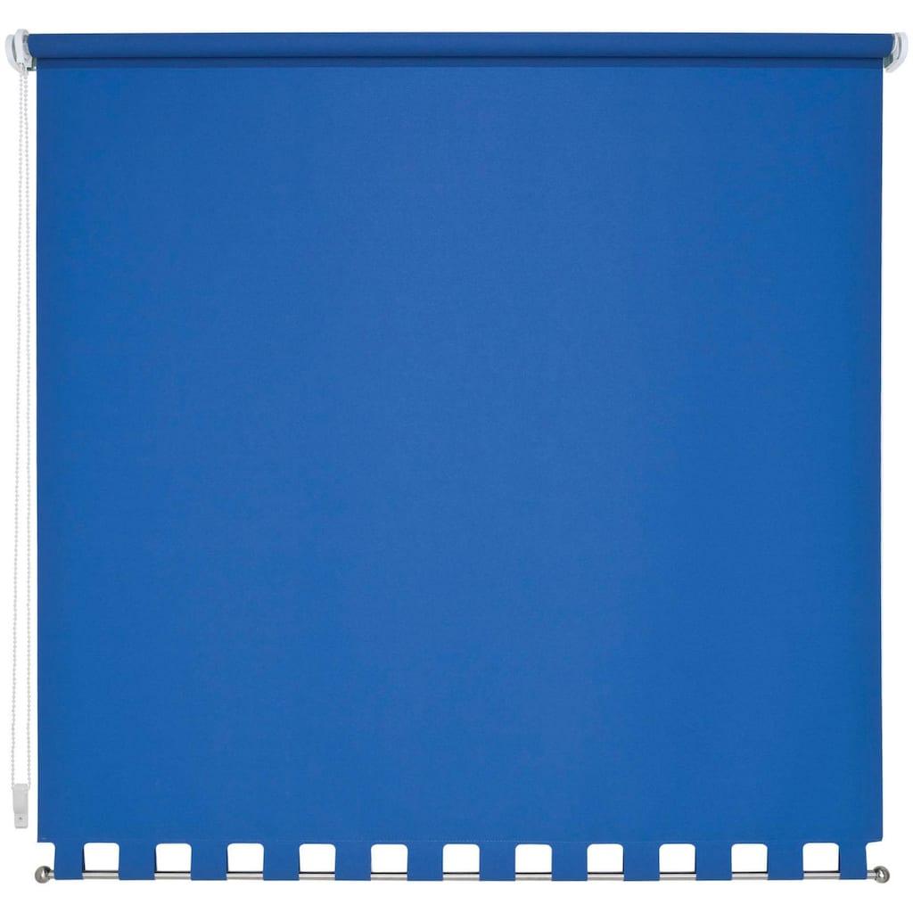 Liedeco Seitenzugrollo, Lichtschutz, mit Bohren, Volantrollo - eckiger Volant, Fixmaß