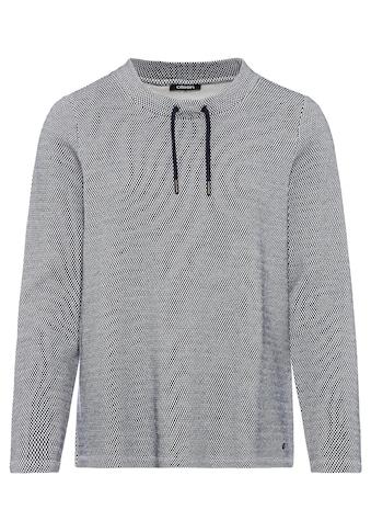 Olsen Sweatshirt, mit kleinem Stehkragen und sportiven Bändern kaufen