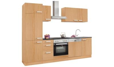 OPTIFIT Küchenzeile »Odense«, (Set), mit E-Geräten, Breite 270 cm, mit 28 mm starker... kaufen