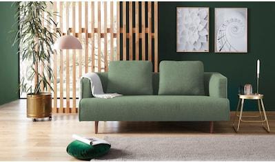 hülsta sofa 3-Sitzer »hs.440«, wahlweise in Stoff oder Leder, Fuß Nussbaum kaufen