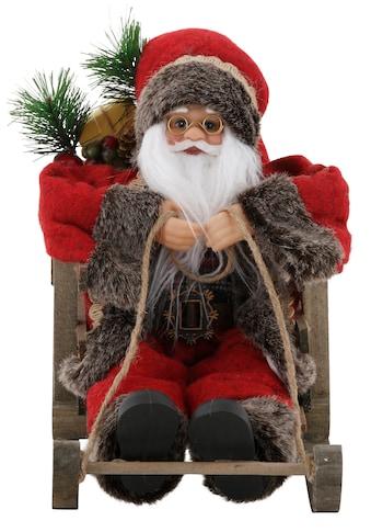 my home Weihnachtsmann, auf Schlitten, Höhe ca. 27,5 cm kaufen