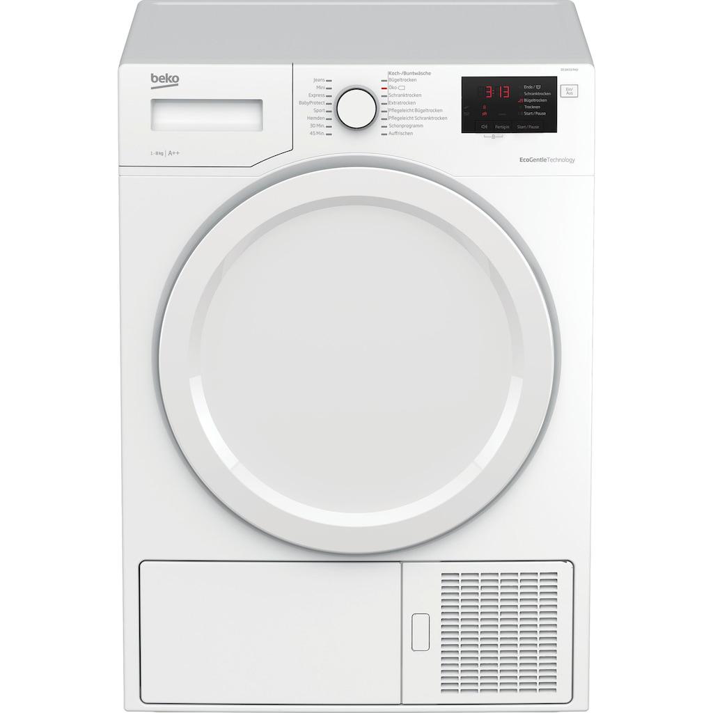 BEKO Wärmepumpentrockner »DS 8433 PA0«, 8 kg, FlexySense