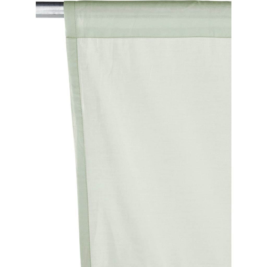 OTTO products Bindegardine »Gitta«, transparent, Bio Baumwolle, monochrom, basic