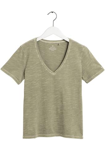 Gant V-Shirt, mit kleiner Logostickerei am Ärmel kaufen