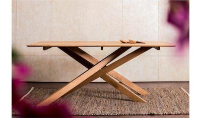 Home affaire Esstisch »Fox«, aus massivem Mangoholz, mit kreativ gestalteten... kaufen