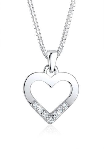 Diamore Collierkettchen »Herz Liebe Diamant (0.035 ct.) 925 Silber« kaufen