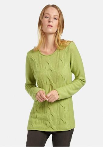 Peter Hahn Strickpullover »Rundhals-Pullover aus Schurwolle«, mit Zopf-Muster kaufen