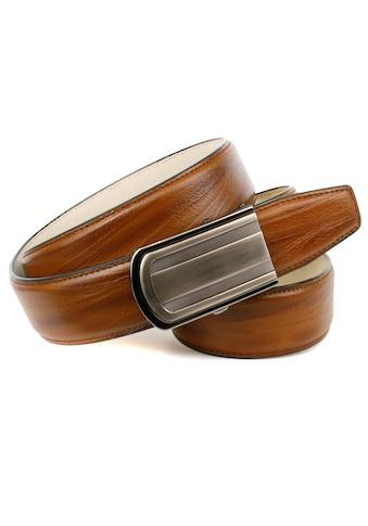 Anthoni Crown Ledergürtel, Automatik Ledergürtel in angesagter cognac Farbe kaufen