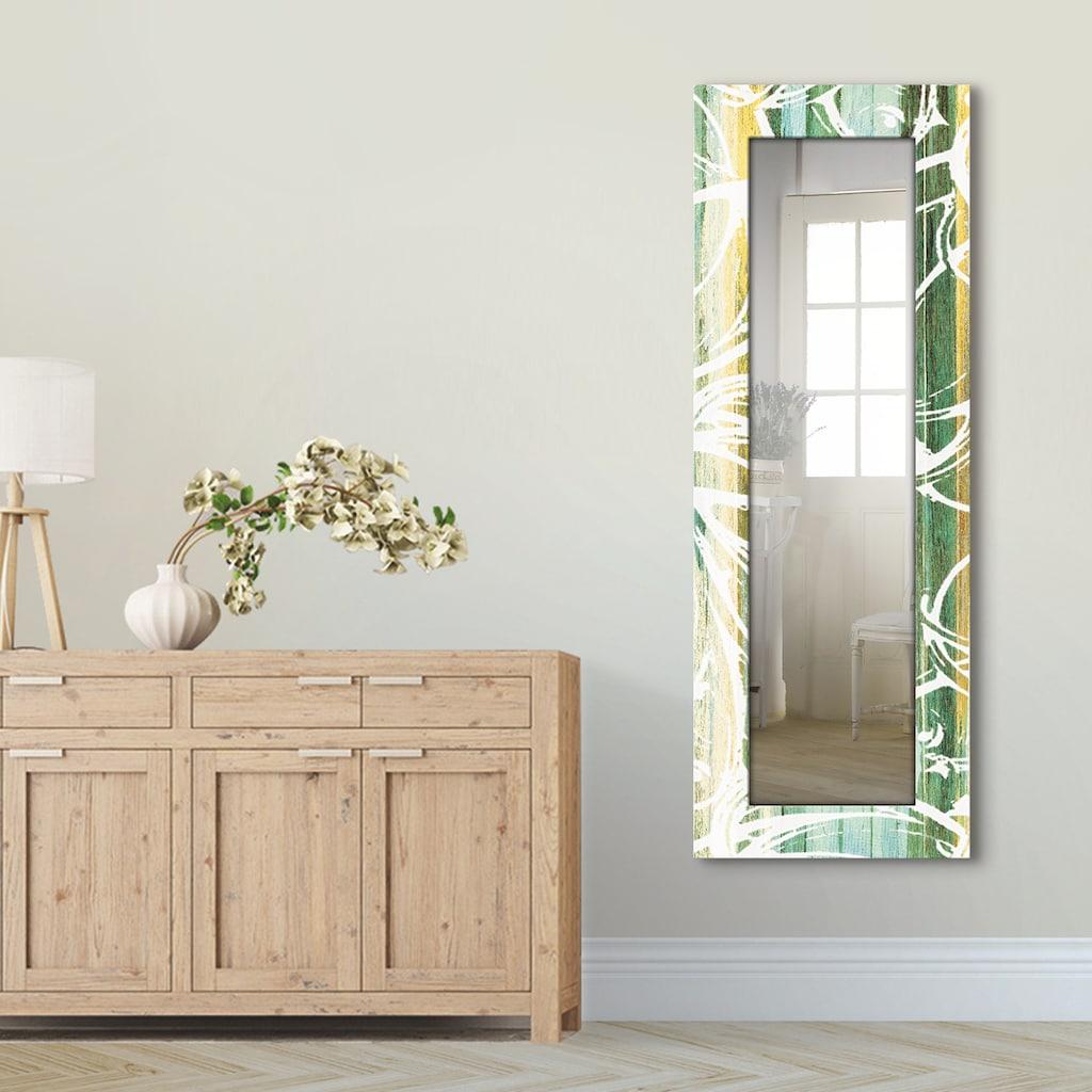 Artland Wandspiegel »Ornamente im modernen Stil«, gerahmter Ganzkörperspiegel mit Motivrahmen, geeignet für kleinen, schmalen Flur, Flurspiegel, Mirror Spiegel gerahmt zum Aufhängen