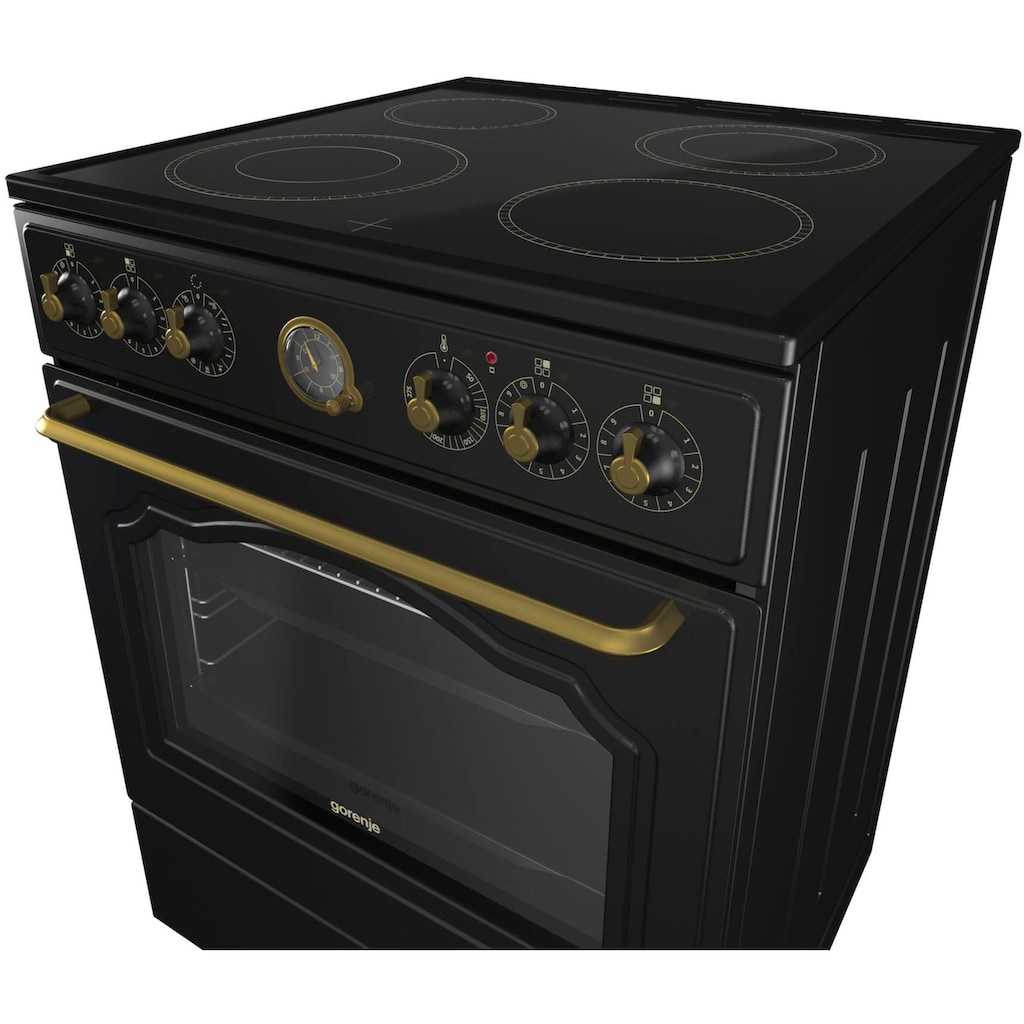 GORENJE Elektro-Standherd »EC 62«, Classico-Edition, EC62CLB, stufenlose Temperaturregelung