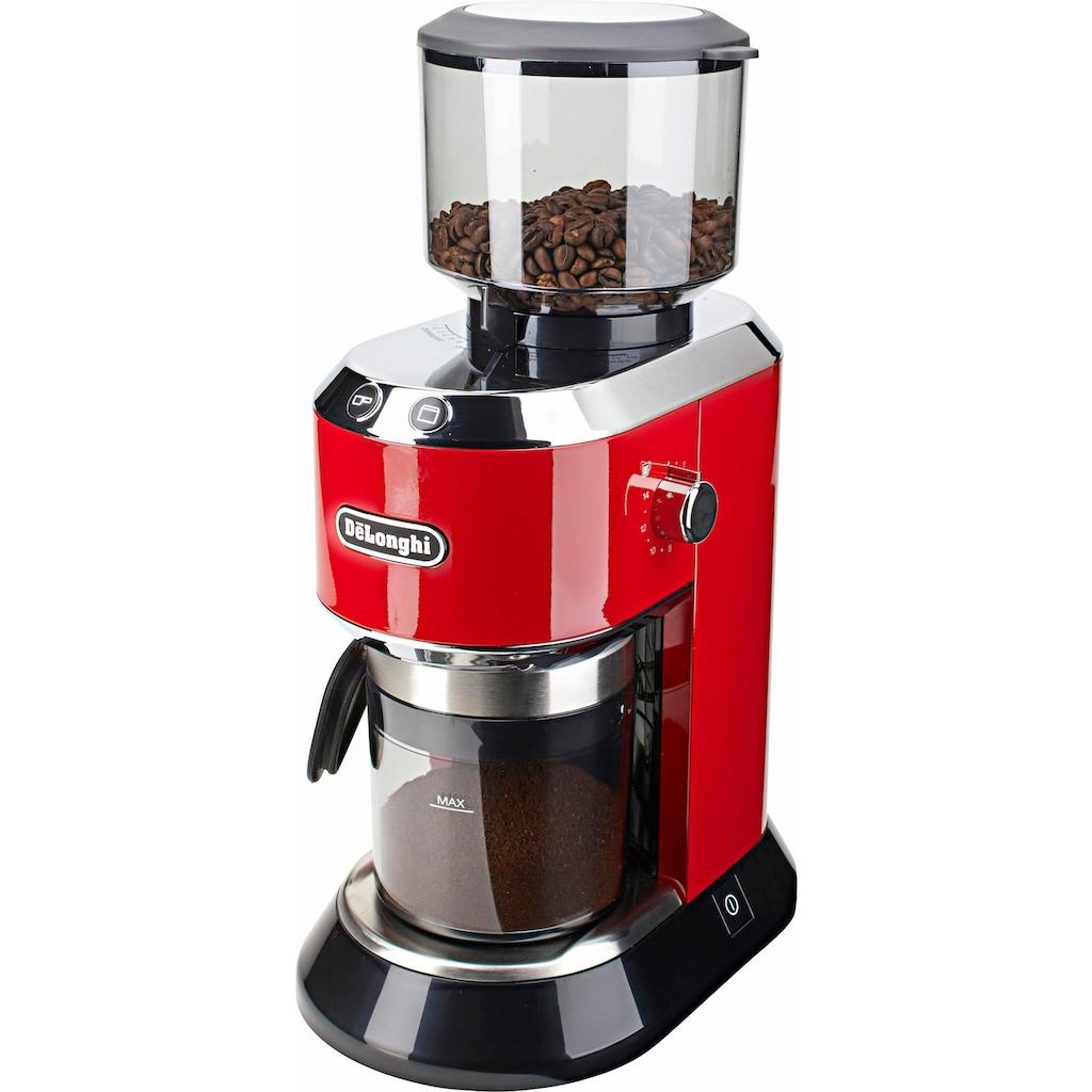 De'Longhi Kaffeemühle »Dedica KG520.R«, 150 W, Kegelmahlwerk, 350 g Bohnenbehälter