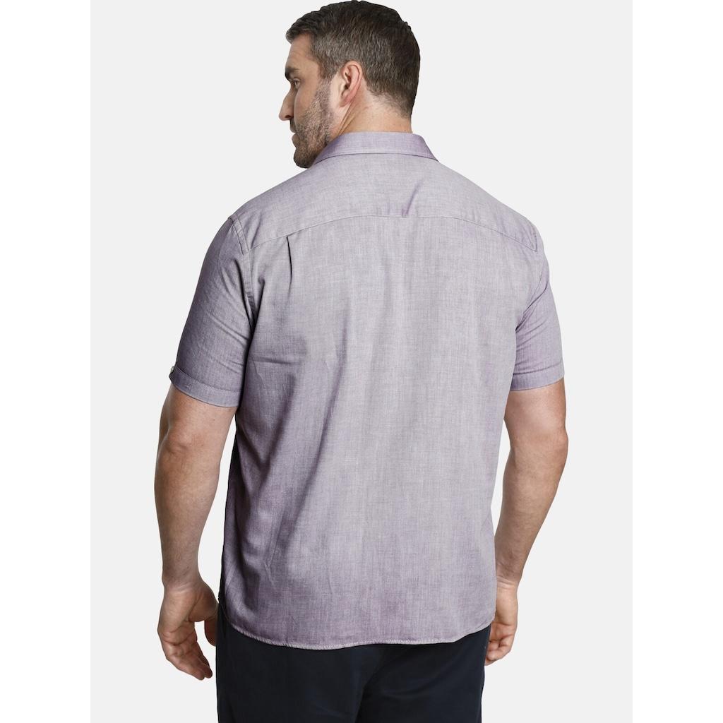 Charles Colby Kurzarmhemd »YVEN«, leichtes Baumwollhemd