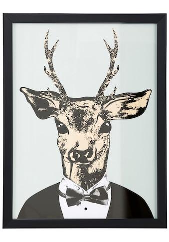 G&C Kunstdruck »Reh in elegantem Anzug«, gerahmt kaufen