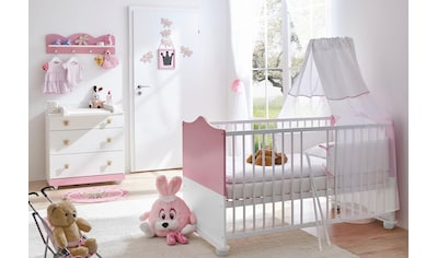 Ticaa Babymöbel-Set »Prinz/Prinzessin«, (Set, 3 tlg.), Bett + Wickelkommode + Wandregal kaufen