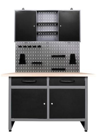 ONDIS24 Werkstatt - Set »Werner«, 120 cm, mit Lochwandsystem inkl. Haken kaufen