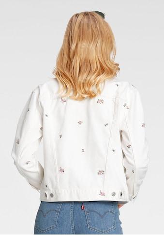 Levi's® Jeansjacke »Ex Boyfriend Trucker«, mit floraler Stickerei kaufen