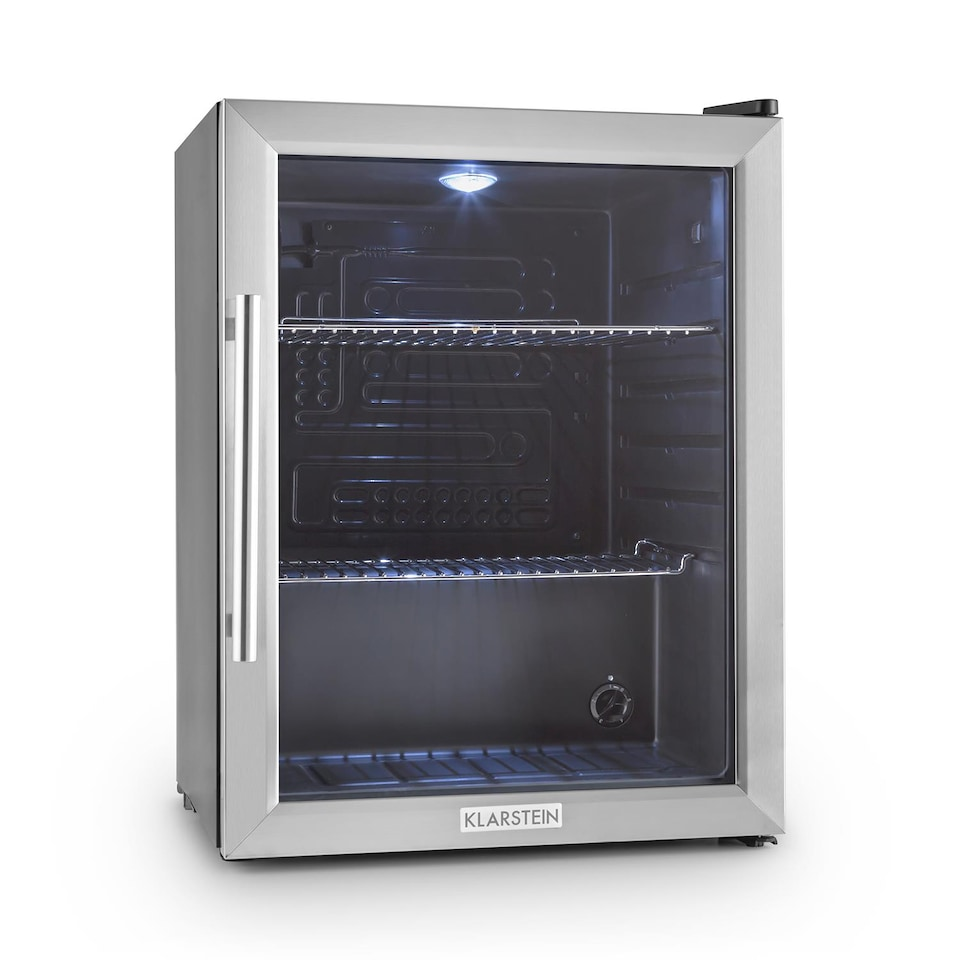 Klarstein Kühlschrank Minibar Getränkekühlschrank Glastür 60L Klasse ...