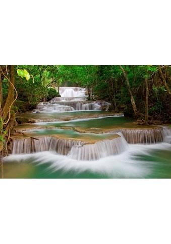 Home affaire Fototapete »Deep Forest Waterfall« kaufen