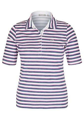 Rabe T-Shirt, mit Streifenmuster und Polokragen kaufen