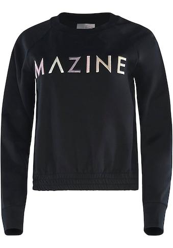 MAZINE Sweatshirt »Viola«, süßer Sweater mit großem Logo kaufen