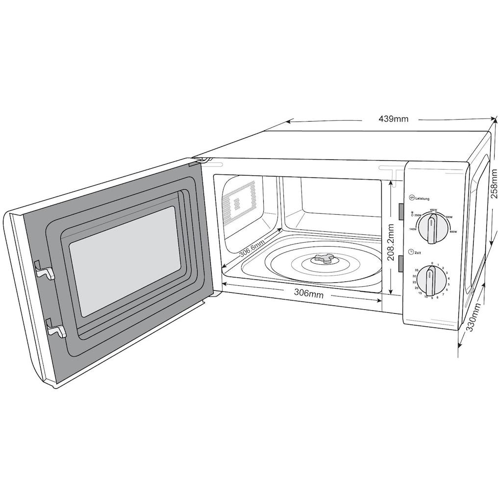 Privileg Mikrowelle »150472«, Mikrowelle, 800 W, mit 5 Leistungsstufen, weiß