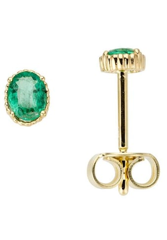 Firetti Paar Ohrstecker »Glanz, massiv«, mit Smaragd kaufen