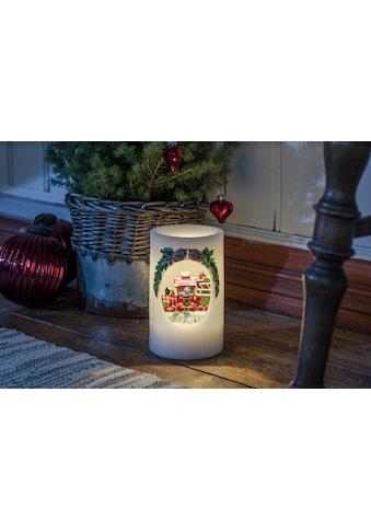 KONSTSMIDE LED-Kerze, LED Echtwachskerze Schneemann mit Zug kaufen