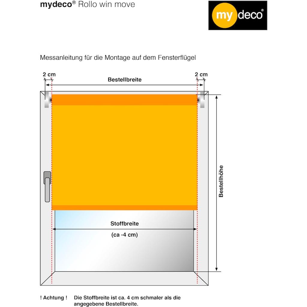 mydeco Seitenzugrollo »Win move«, Lichtschutz, ohne Bohren, freihängend