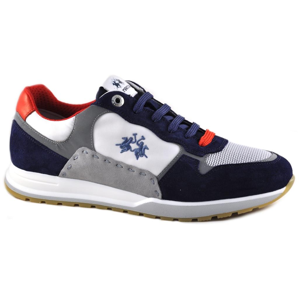 La Martina Sneaker »Made in Italy«, in maritimer Farbkombi