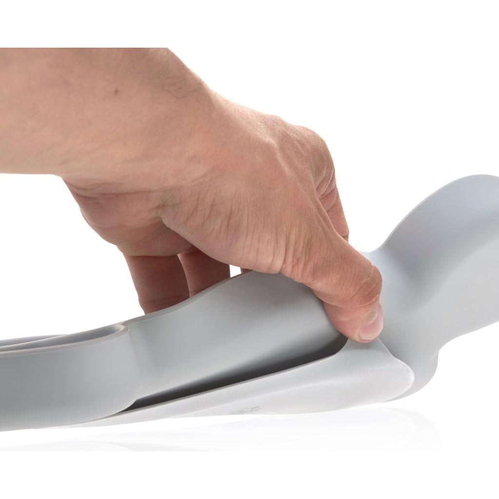 LÄSSIG Teller »Little Chums, Mouse grey«, mit Saugnapf
