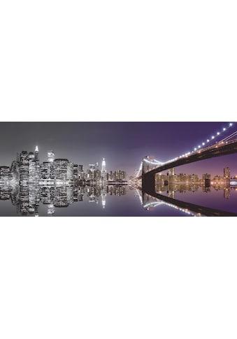 Home affaire Glasbild »Mike Liu: N. Y. Skyline und nächtliche Reflektion«, 125/50 cm kaufen