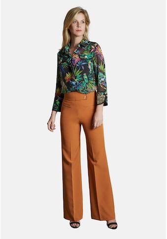 Nicowa Hemdbluse, mit tropischem Allover-Print kaufen