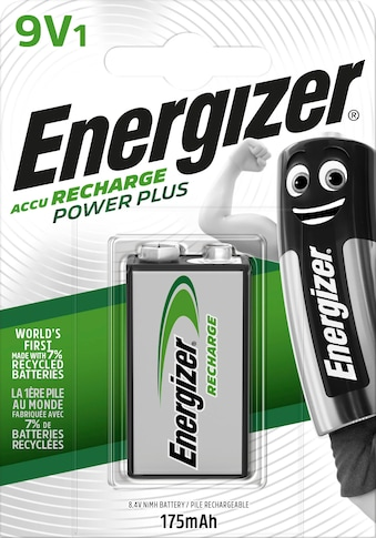 Energizer Akku »NiMH Power Plus, E-Block (9V), 175 mAh 1 Stück«, Block kaufen