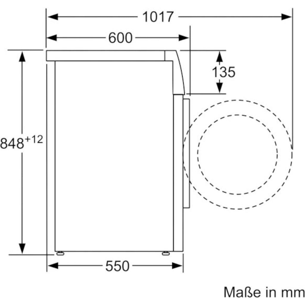 SIEMENS Waschmaschine »WM14N0A2«, iQ300, WM14N0A2, 7 kg, 1400 U/min