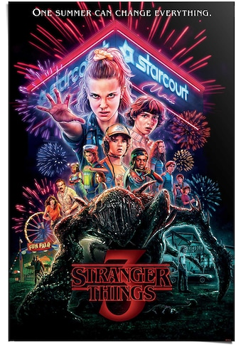 Reinders! Poster »Poster Stranger Things Summer of 85 - Netflix - Mike - Eleven«,... kaufen