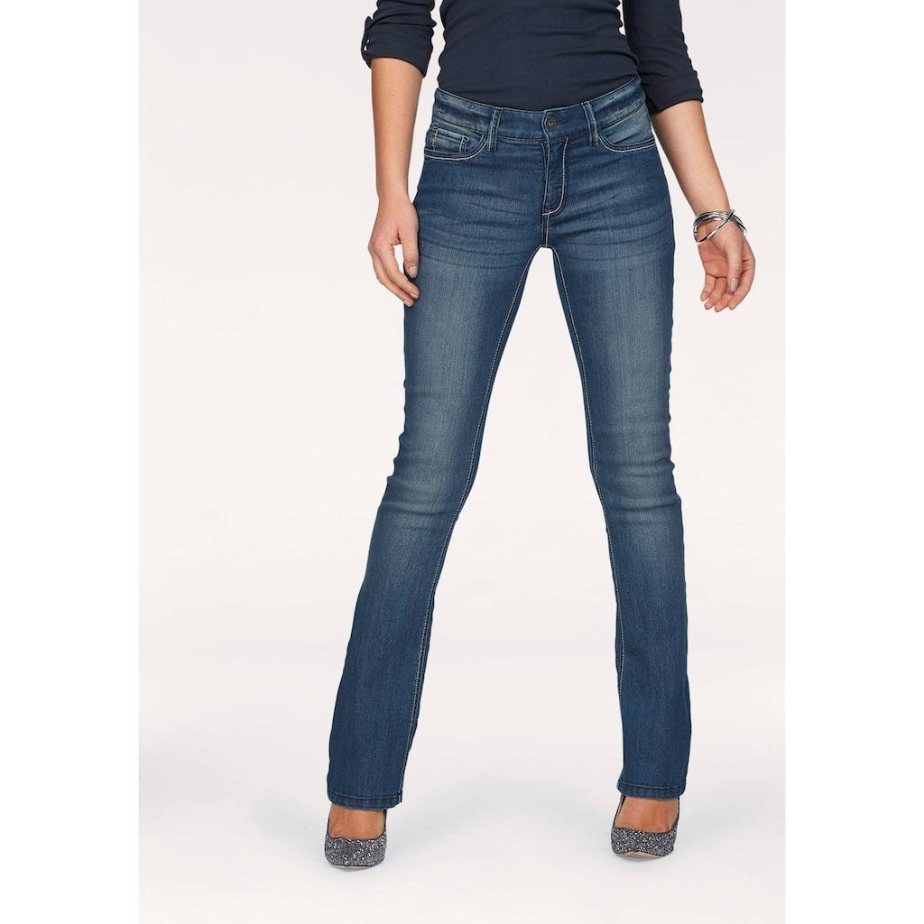 Arizona Bootcut-Jeans »mit Kontrastnähten«, Mid Waist