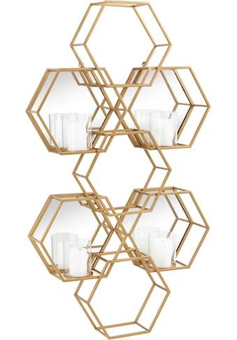 Leonique Wandkerzenhalter »Hexagon«, Wanddeko, aus Metall, bestehend aus sechseckigen... kaufen